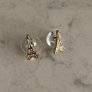 Jewelry - Gold Eiffel Tower Stud Earrings